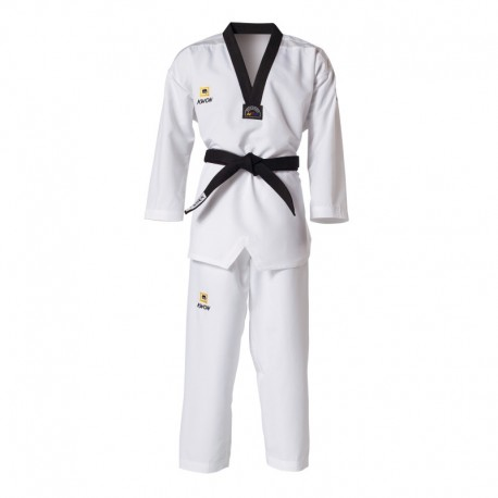 "DOBOK KWON ""FIGHTLITE"" COL NOIR HOMOLOGUE WTF"