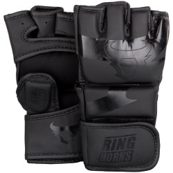 GANTS DE MMA RINGHORNS by Venum CHARGER NOIR/NOIR