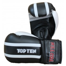 GANTS DE BOXE TOP TEN STRIPE NOIR/BLANC