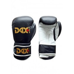 LEATHER BOXING GLOVES, DAX TT PRO, BLACK/WHITE