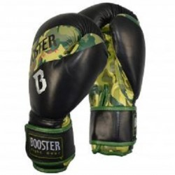 GANTS DE BOXE BOOSTER BT SPARRING BLACK-CAMOUFLAGE