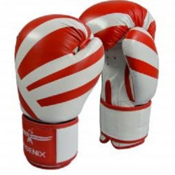 BOXING GLOVES PHOENIX LEATHER RED-WHITE