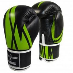 BOXING GLOVES PHOENIX LEATHER GREEN-BLACK