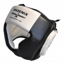 PHOENIX BOXING HEAD GUARD PROFESSIONAL LINE BLACK-WHITE