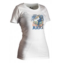 TEE-SHIRT JUDO ALL JAPAN LADY BLANC