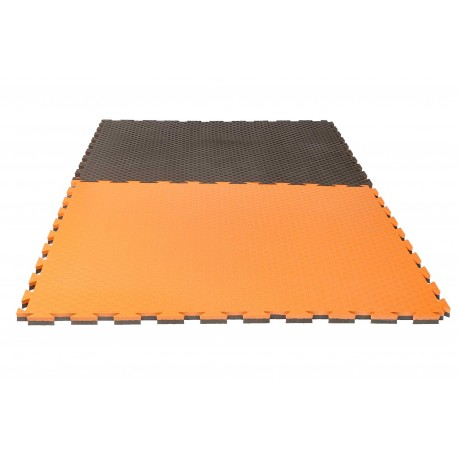 TAPIS PUZZLE REVERSIBLE CHECKER PRO 2 cm NOIR/ORANGE