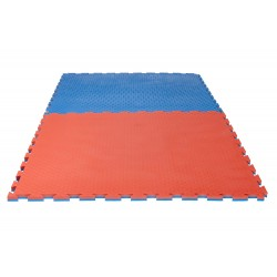 TAPIS PUZZLE REVERSIBLE CHECKER PRO 2 cm BLEU/ROUGE