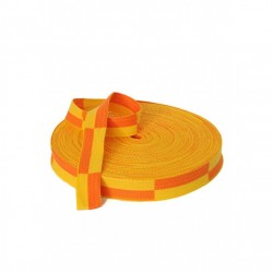 ROULEAU CEINTURE JAUNE/ORANGE KARATE 50 m