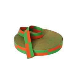 ROULEAU CEINTURE ORANGE/ VERTE KARATE 50 m