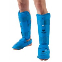 BLUE KARATE SHIN/FOOT GUARD, TOKAIDO, WKF APPROVED,